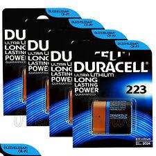 4 x Duracell Ultra Lithium Cr223 6V batteries Dl223 El223Ap Cr-P2 Crp2 Exp:2024