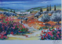 Ella FORT : Der Berger Solitär - Lithografie Originell Signiert #390ex# Provence