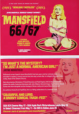 MANSFIELD 66/67 FILM POSTCARDS X 2 - JAYNE MANSFIELD MOVIE STAR ACTRESS