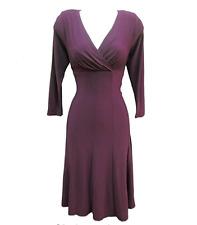 Ralph Lauren Burgundy Wine Stretch Jersey A-line Wear To Work Social Dress SZ 2