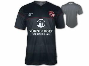 Umbro 1. FC Nürnberg Ausweichtrikot 20 21 schwarz FCN 3rd Shirt Fan Jersey S-3XL