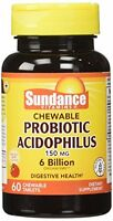 2 Pack Sundance Chewable Probiotic 60 Count Each