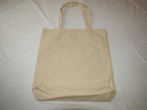 GAR Industries Corp grocery bag Canvas Tote plain light tan NEW NWOT totebag