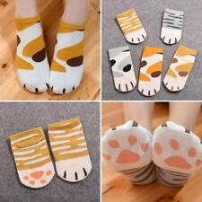 Womens Girls Summer Winter Cartoon Cute Cats Paw Kitty Claws Ankle Short Socks n