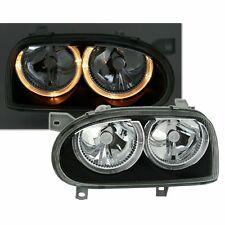2 PHARES ANGEL EYES VW GOLF 3 BERLINE BREAK NOIR FK CRISTAL 8/1991-5/1999