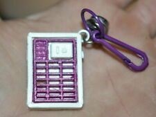 VTG 1980s Electronic Equipment Clip On Charm w Bell For Plastic Charms Necklace