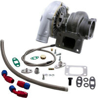 GT30 GT3037 GT3076 Turbo Turbocharger T3 + Oil Drain Return FEED Line Kit TCD