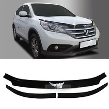 Emblem Hood Guard Bug Shield Molding Black for Honda 2012 - 13 14 15 16 CR-V