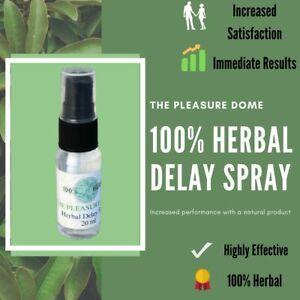 Herbal Delay Spray The Pleasure Dome 20ml Natural Help Last Longer Men !!!!!