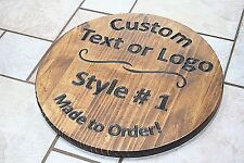 Custom Circular/Round Wood Sign - CNC Engraved (Bar, Sports, Personalized Logos)