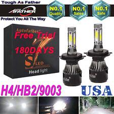 2PCS H4 9003 HB2 LED Headlight Kit Light Lamp Bulbs High Low Beam 580W 58000LM