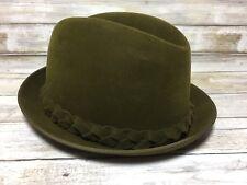 fcf0538ff3 Vintage Byer Rolnick Resistol Brookwood Self Conforming Fedora Hat Braided  6 7 8