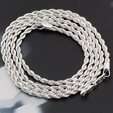 Wholesale 14K White Gold Filled Fashion Mens Rope Chains Necklaces,24 Inch