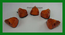 Maxxima Amber Truck Pick-up Cab Roof Clearance Bus Marker LED Lights Set of 5