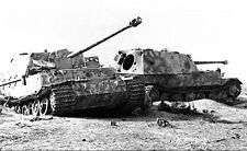 WW2 Photo Destroyed Ferdinand Tanks WWII Russia Germany World War Two