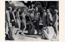 Nudist Wedding 1933•Photo UPI/Bettmann•Nude Celebration Gathering POSTCARD