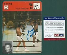 Floyd Patterson signed 1978 Sportcaster card PSA Authenticated
