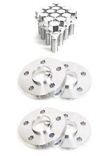 4 15mm Hub Centric Wheel Spacers 5x112 Mercedes 14x1.5 Chrome Lug Bolts 5 x 112