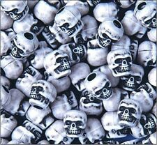 White Skull Beads great paracord accessory for lanyards bracelets 25ct bag