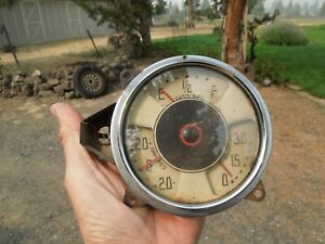 1936 Chevrolet Standard Gas, Amp and Oil Pressure Gauge Cluster NICE Original