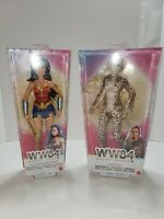 "WW84 Battle-Ready WONDER WOMAN & Cheetah 1984 12"" Barbie Dolls Figure DC Mattel"