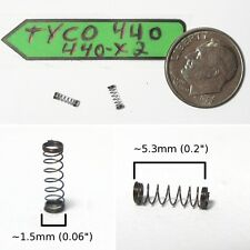2 TYCO 440 440-X2 Slot Car Chassis Carbon Brush SPRINGS