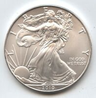 2010 American Eagle 1 oz Fine Silver Dollar - One Ounce Bullion - AZ634