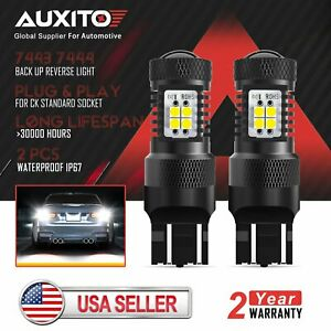 AUXITO 7443 7440 7444 LED Reverse Brake Turn Signal DRL Light Bulbs Xenon White