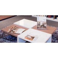 Tavolo a scacchi per soggiorno moderno laccato bianco rovere TL6622 L100h25p100