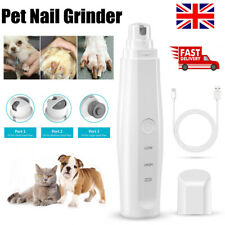 More details for electric dog pet cat nail grinder clipper claw care smoothing painless trimmer