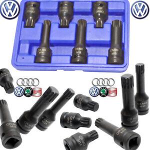 "6pc 1/2"" Drive Spline Impact Socket M14 M16 M18 Hubs Calipers Vw Audi Skod Seat"