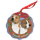 American Staffordshire Terrier Amstaff Holiday Porcelain Christmas Tree Ornament