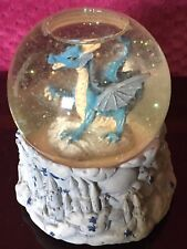 Marjorie Sarnat San Francisco Music Box Co Dragon w Merlin Musical Snow Globe