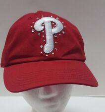Victorias Secret PINK Red Philadelphia PHILLIES  Hat MLB BLING Cap Crystals OSFA