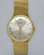 Vintage Calatrava 18k Yellow Gold Patek Philippe Reference 2573 Archives Papers