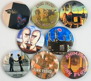 PINK FLOYD BADGES 8 x New and Vintage Pin Badges * Wish You Were Here * Animals