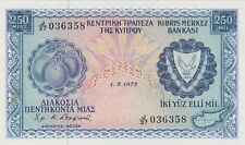 More details for p41b cyprus 250 mils banknote dated 1973 in near mint condition - slight stain