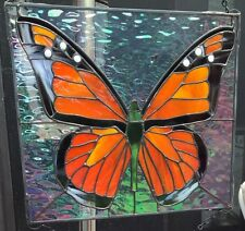 Monarch Butterfly Stained Glass Handmade