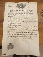 J.B. DE PRUNIER MARQUIS DE LEMPS REGIMENT EN QUARTIER A VALS ARDECHE 1757
