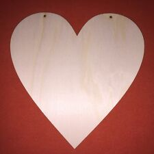2 x large HEARTS 20cm WOODEN SHAPE WEDDING VALENTINE GIFT HANGING PLAQUE CRAFT