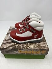 Vintage Timberland Field Boot Red Smooth 16816 Toddler Baby Sz 6.5 NOS NEW
