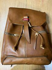 BOLDRINI SELLERIA-Dal1955 Montecristo Vacchetta Leather Backpack 1021 CUOIO-NEW