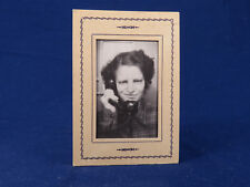 Studio McCoy Antique Photo LaCrosse Wisc Lady On Phone With Funny Expression