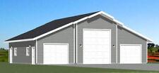 50x42 2-Car 1-RV Garage - PDF FloorPlan - 1,973 sqft - Model 1K