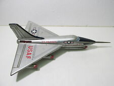 Vintage Made In Japan US Air Force Convair B-58 Tin Toy Airplane Jet t4339