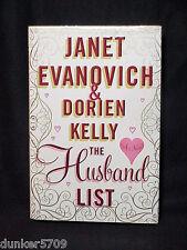 JANET EVANOVICH DORIEN KELLY HARD COVERED BOOK THE HUSBAND LIST 2013 FIRST ED