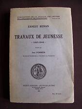 Ernest Renan - Travaux de jeunesse 1843-1844