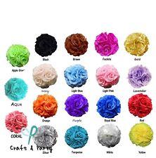 "10"" Flower Kissing Ball Wedding Silk Rose Balls Party Pomander Flower Decoration"