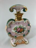 FLACON 19 EME PORCELAINE DE PARIS  A DECOR FLORAL C2472