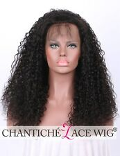 Best 360 Frontal Wigs Indian Remy Full Lace Human Hair Curly Wigs With Baby Hair